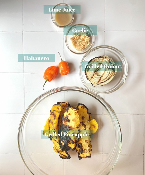 Roasted Pineapple and Habanero Sauce Recipe Ingredients